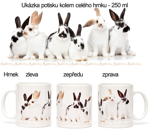 Originální králičí hrnek Rabbit love - 250 ml