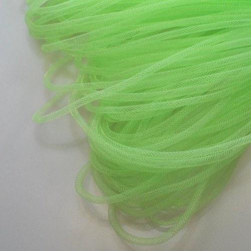 Pružná návleková síťka / 4 mm / Světle zelená