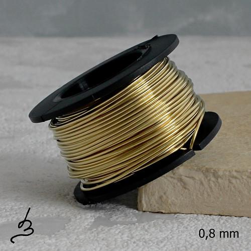 Mosazný drát 0,8 mm - 10 m