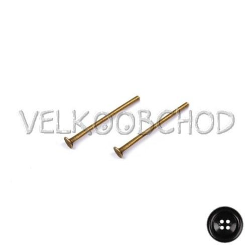 Ketlovací nýty 20 mm (50 ks) - staromosaz