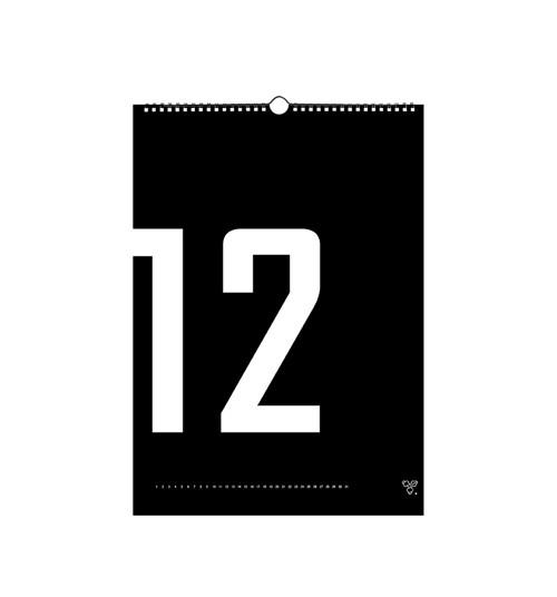 Nástěnný kalendář - BLACK MONTHLY WALL