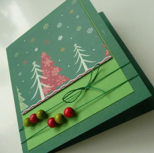 Vánoční přání zelené 2.