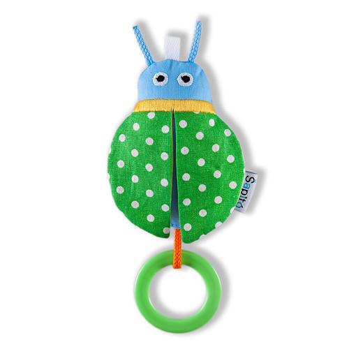 Beruška zelený puntík / kroužek - chrastíko