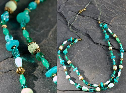 Zelený náhrdelník N0161G