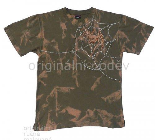 Malované tričko pánské - pavouk