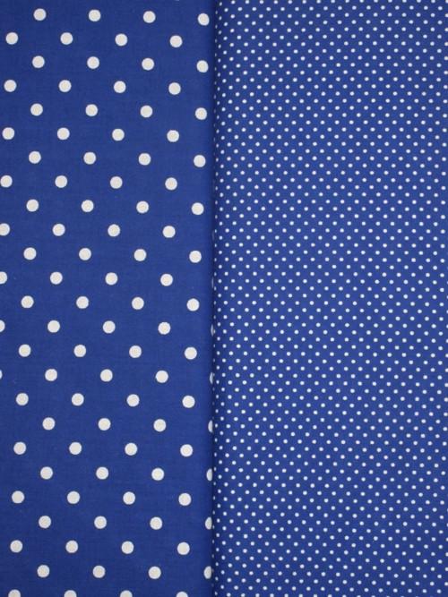 Dekorační látka metráž puntíky tmavě modré