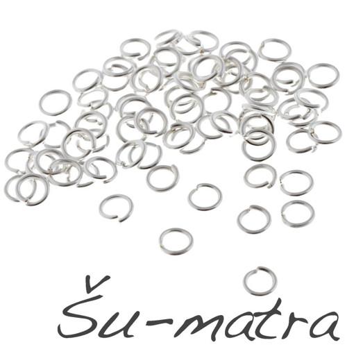 Kroužky stříbrné, 5x1 mm