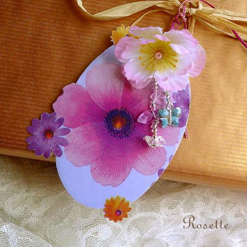 Květy velké..., květy malé... -  visačky na dárky