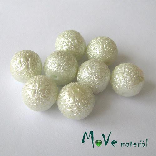 """Voskové perle \""""Zigana\"""" 12mm, 8ks, bílé"""