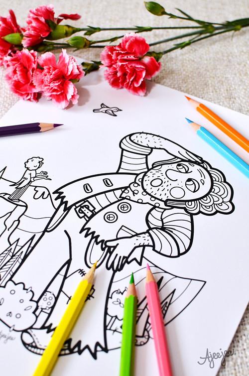 Obr a krejčík – omal. ilustrace (K TISKU)