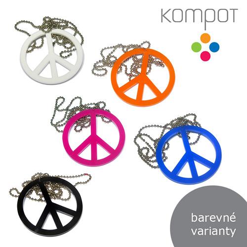 PEACE náhrdelník :: více barev
