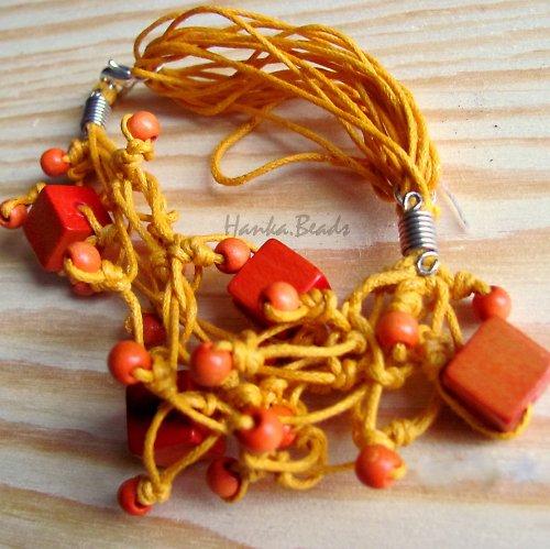 náramek Oranžová motanice