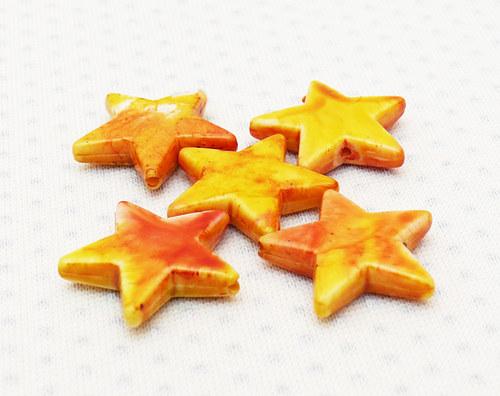 """Korálky - hvězdy \""""žluté\""""2 ks"""