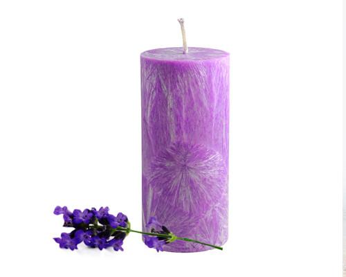 Svíčka z palmového vosku - válec - lila