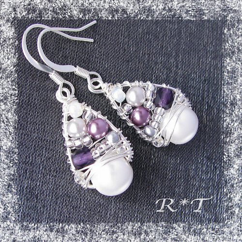 "Náušnice \""Sweet violets\"""