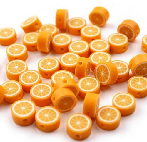 Korálek z fima - pomeranč