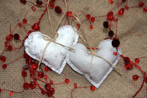 Srdíčko vánoční stříbrné