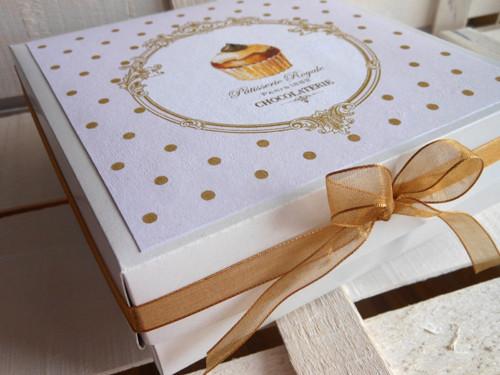 Muffin s čokoládou - dárková krabička 15x15x5 cm