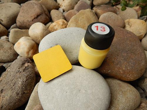 Žlutá barva 70 g