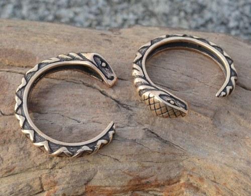 HAD, prsten s hadem bronz, zmije, hadí šperk