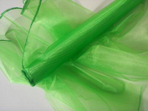 Organza zelená obroubená