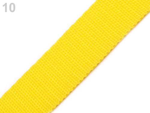 Polypropylénový popruh : Yellow