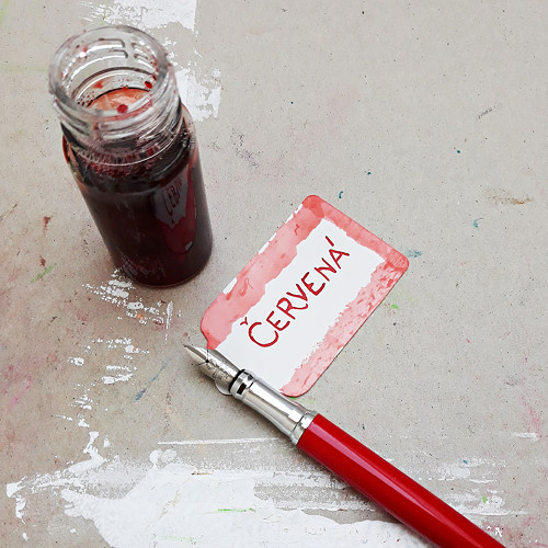 Inkoust - červená