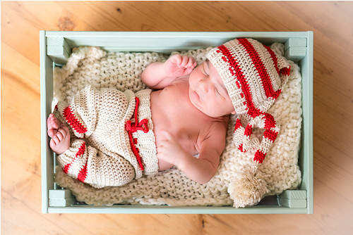 Newborn háčkovaný setík na focení