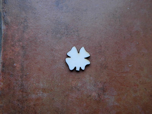 2D výřez čtyřlístek pr.1,8cm - cena za 5ks