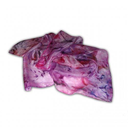 Fialový batikovaný šátek