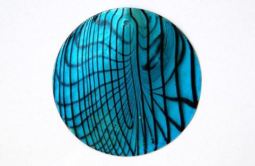 perleťové placky tenké- 45mm