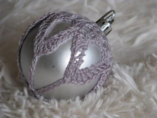 Vánoční ozdoba - matná šedá