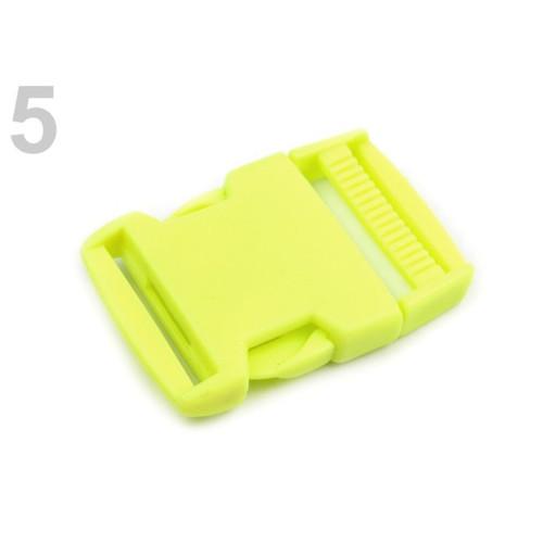 Spona trojzubec š. 30 mm (5sad) - zelená neon