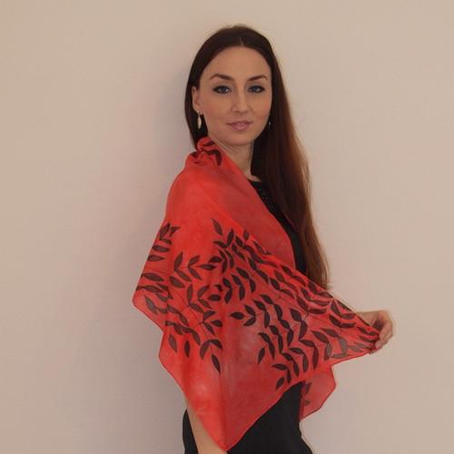 Červený šál