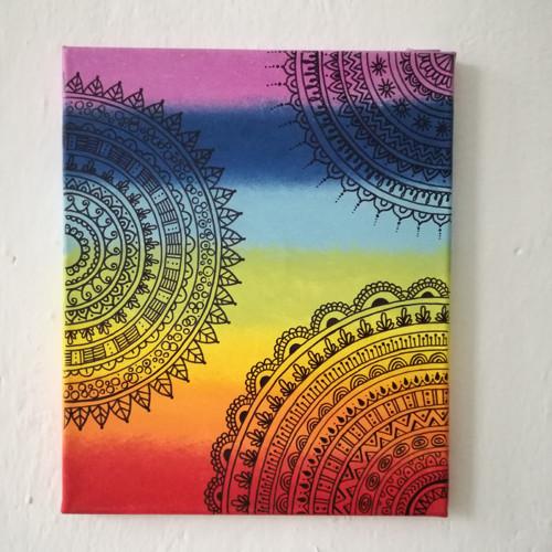 Mandala v čakrových barvách