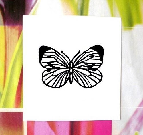 Motýlí křídla... Omyvatelné razítko.