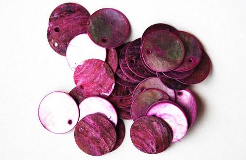 perleťové kolečka růžová 1-2cm