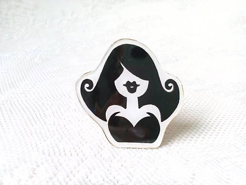 Burlesque Girl brooch