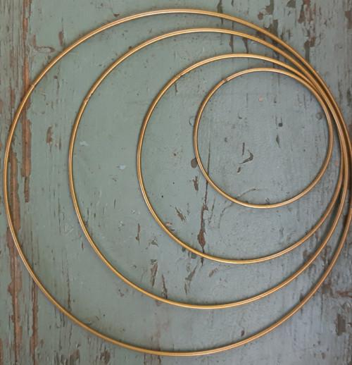 Zlatý kruh na výrobu lapače snů 25 cm