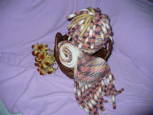 Dětská šála a čepice