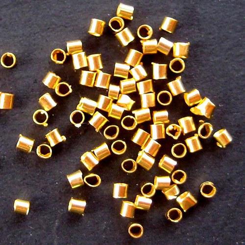 Trubičkový Rokajl 1,5mm - 1000ks - Zlatý