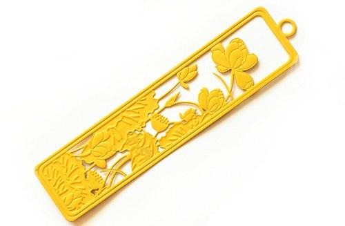 měděný obdélník- žlutý