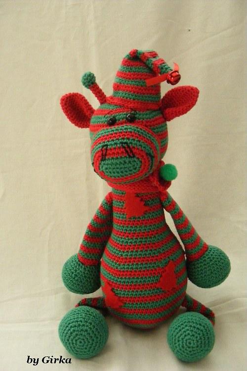 Vianočný žirafkový škriatok