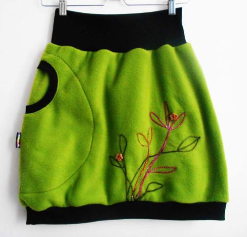 sukně dámská - zelinkavé kvítí