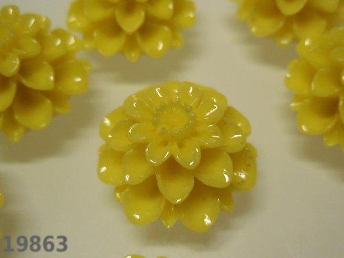 19863-B03 Kabošon květ ŽLUTÝ, bal. 2ks