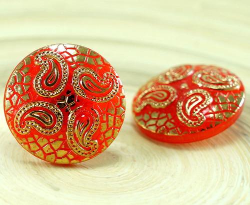 1ks Oranžové Zlatý List Hadí Kůže Orientální Hallo