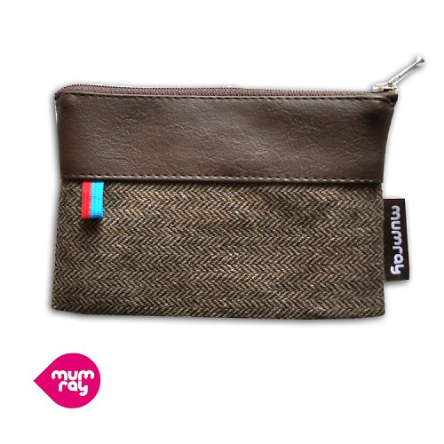 Brown tweedy purse