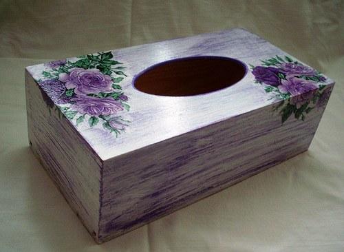 krabička na kapesníky- vintage