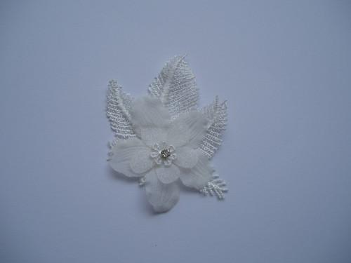 Vývazek květina-bílý