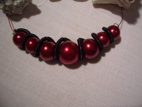 CARMEN RED SPIRAL náhrdelník